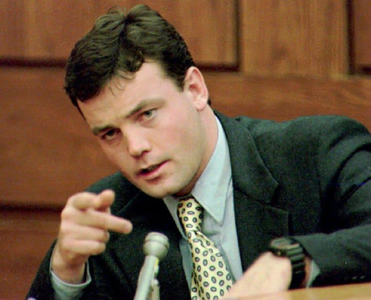 John Wayne Bobbitt testifies during a court appearance in 1994