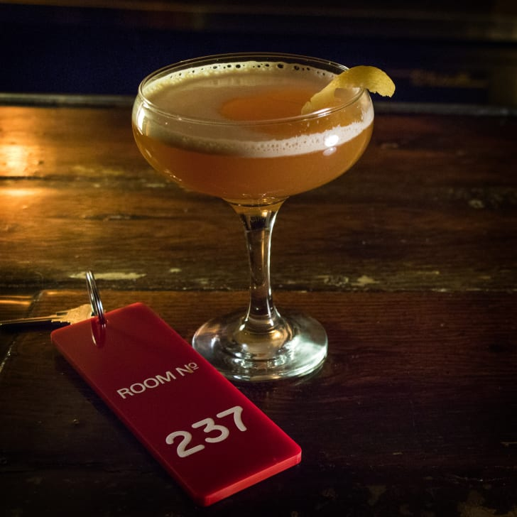 """A drink at Chicago's """"The Shining""""-themed pop-up bar"""