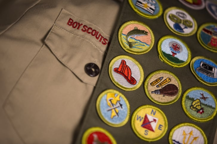 Close-up of a Boy Scout uniform.