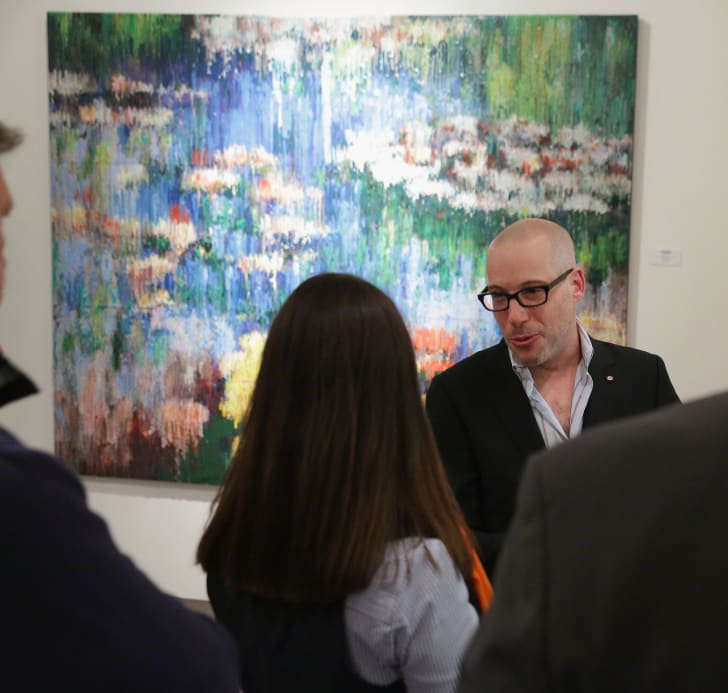 Artist Bradley Hart attends the opening reception for The Masters Interpreted at Cavalier Gallery on May 7, 2014 in New York City.