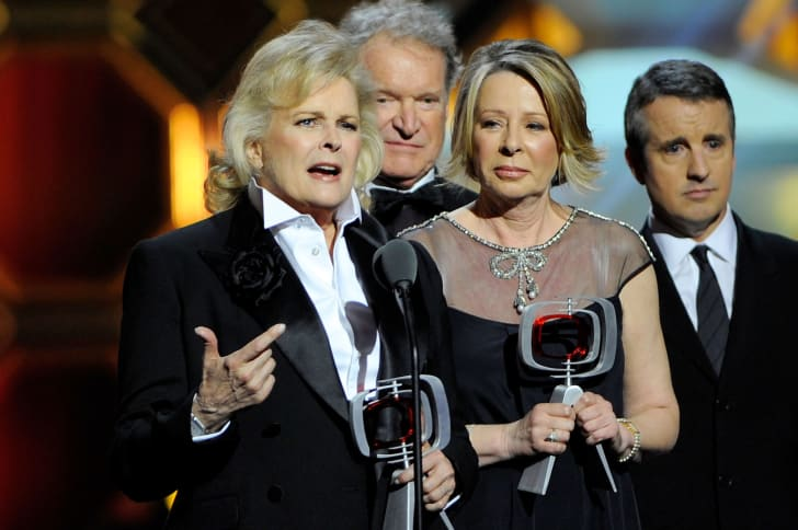Actor Candice Bergen and 'Murphy Brown' creator/executive producer Diane English speak onstage at the 10th Annual TV Land Awards