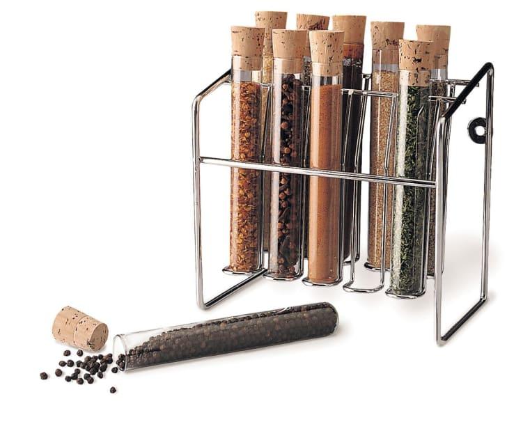 Spice Rack Shaped Like Tube Set