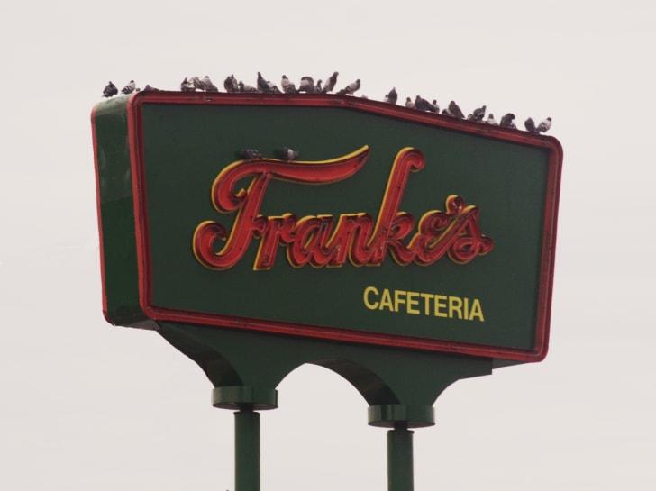 The sign for Franke's Cafeteria in Little Rock, Arkansas.
