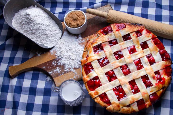 A sour cherry pie.