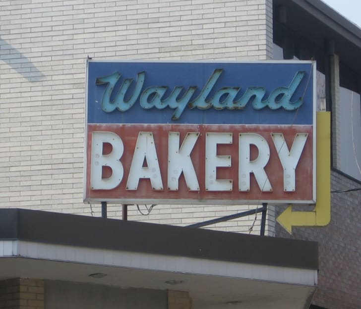 The sign at Providence's Wayland Bakery.
