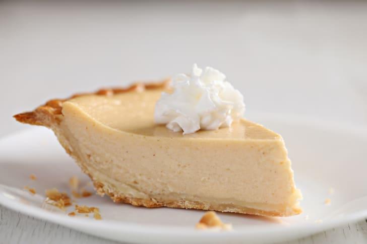 A slice of buttermilk pie.