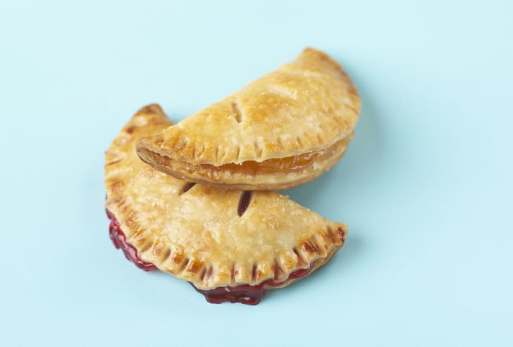 Two fried fruit pies.