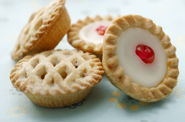 Four pretty, mini pies.