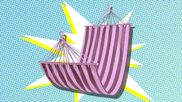 Photo illustration of a hammock.