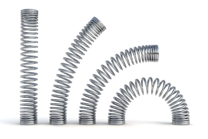Metal springs bending