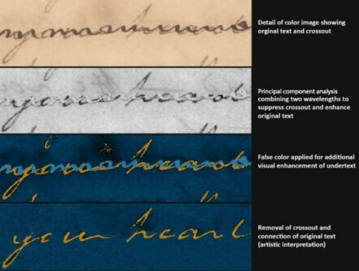 A hyperspectral image of Alexander Hamilton's handwriting