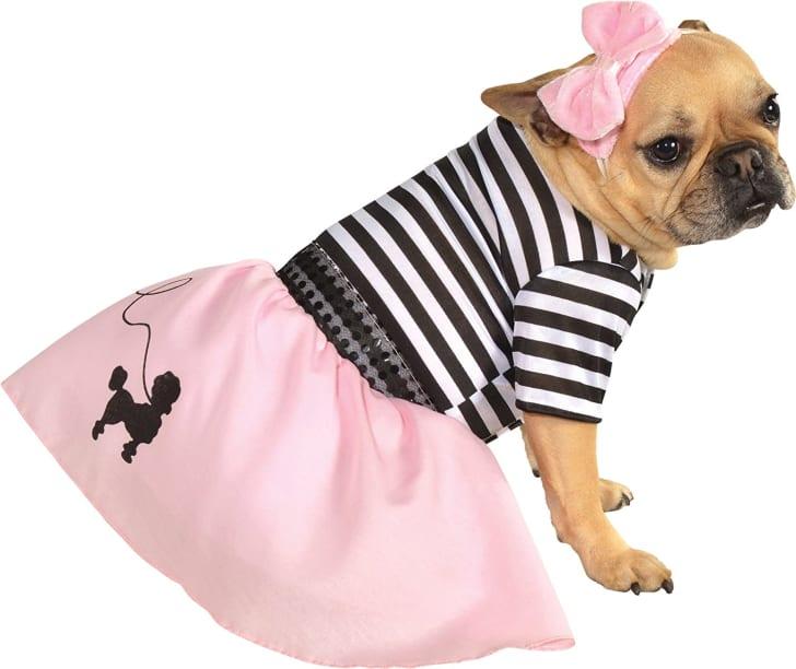 Rubies Pink Fifties Girl Pet Costume
