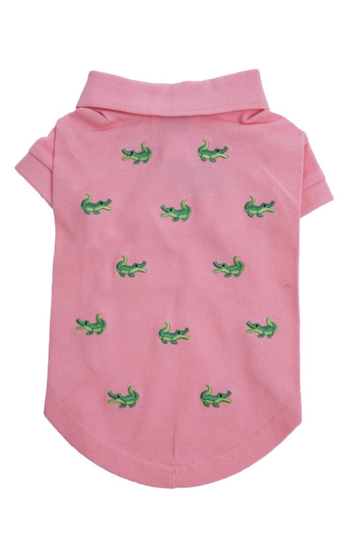 Dog Pink Polo Shirt