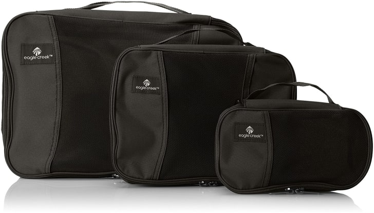 A set of three Eagle Creek packing cubes.