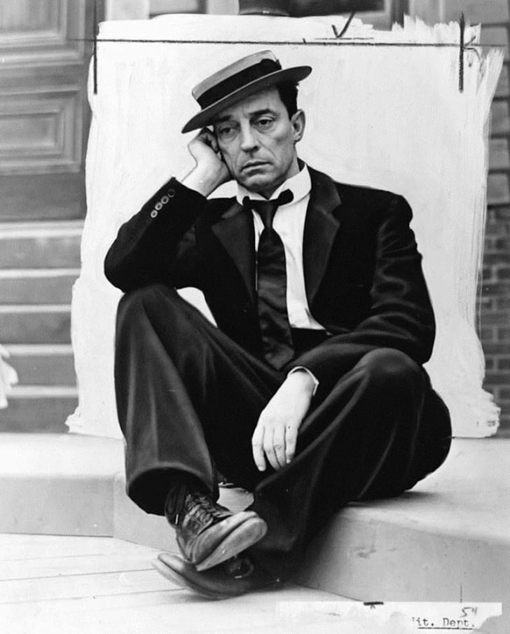 Actor Buster Keaton wearing his signature pork pie hat in 1939.
