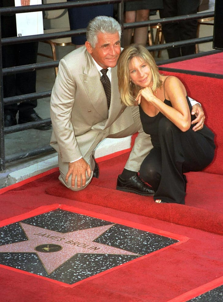 James Brolin and singer and actress Barbra Streisand pose for the media during the Hollywood Walk of Fame ceremony for Brolin.