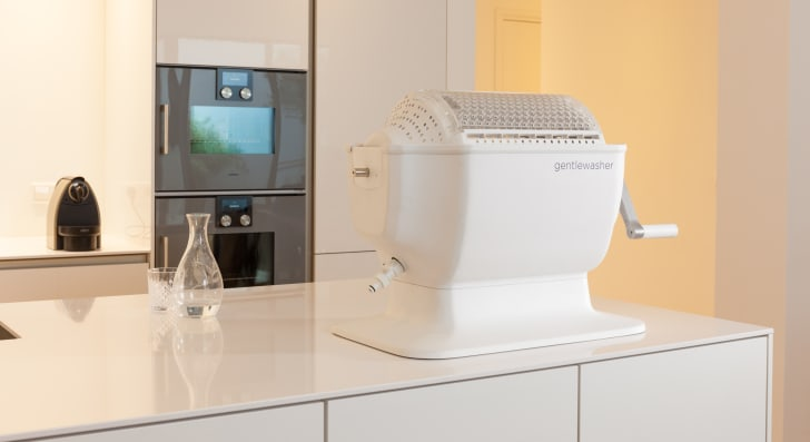 The gentlewasher, an at-home laundry gadget designed for small loads of laundry