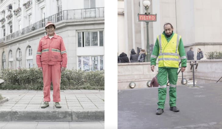 Portraits of city workers.