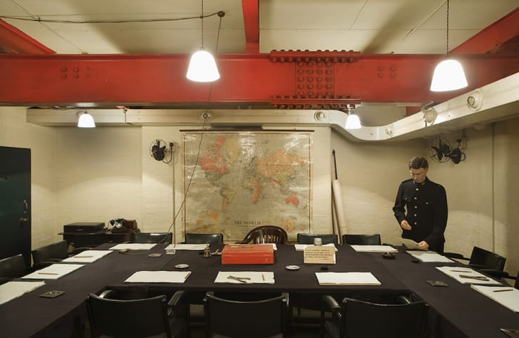 The Cabinet War Room as it's seen today within Churchill War Rooms.