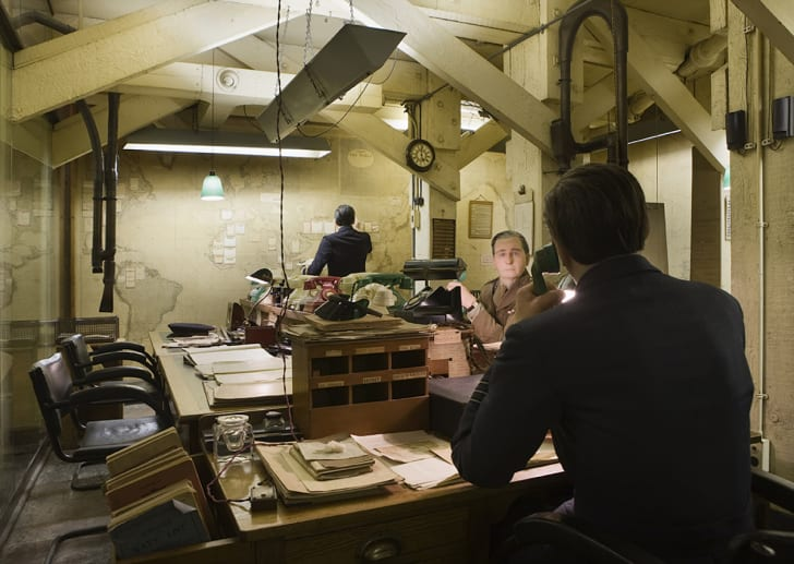 The Map Room as it's seen today within Churchill War Rooms.