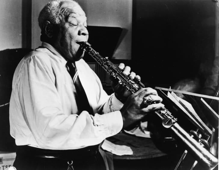 Sidney Bechet Playing Soprano Saxophone