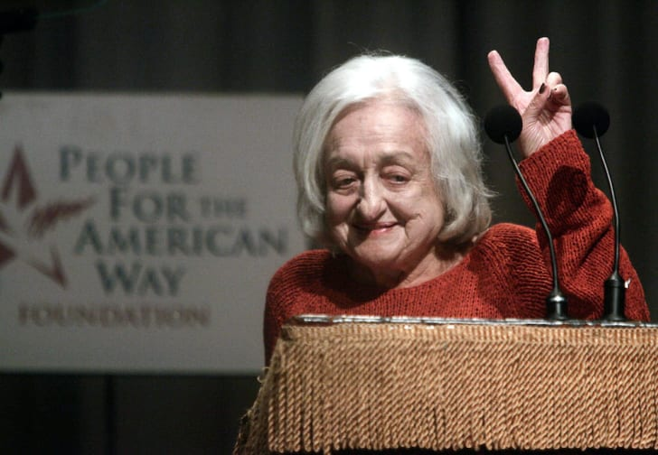 Author Betty Friedan attends a reading of the U.S. Constitution at Cooper Union for the People For the American Way Foundation September 1, 2004 in New York City