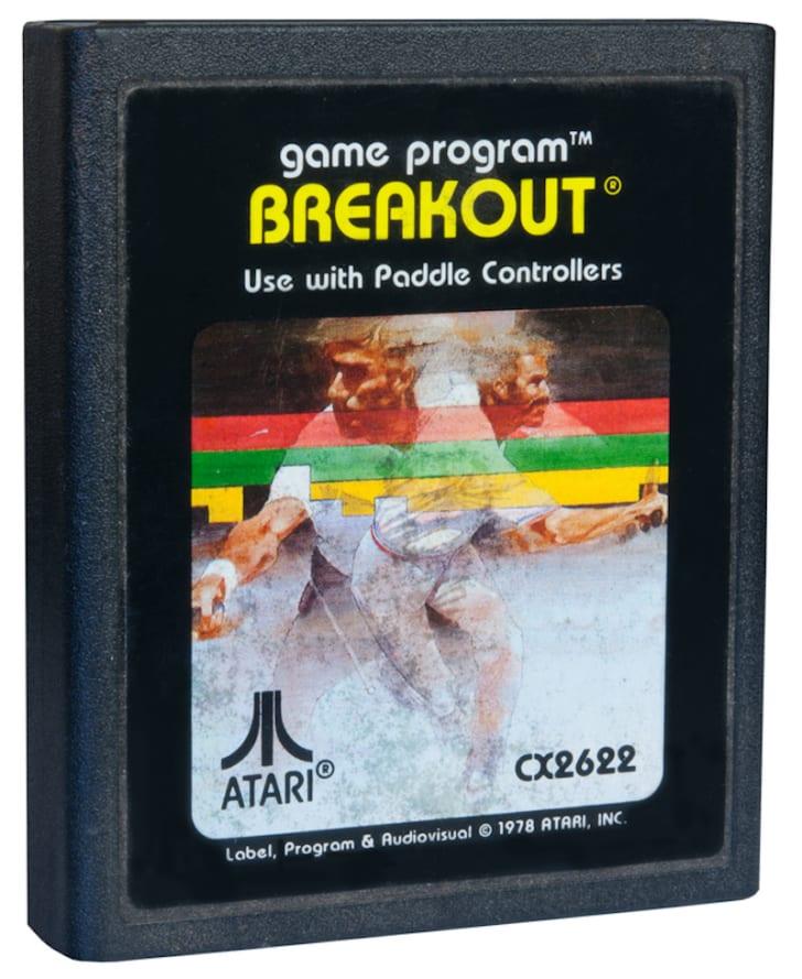 'Breakout' Atari game cartridge
