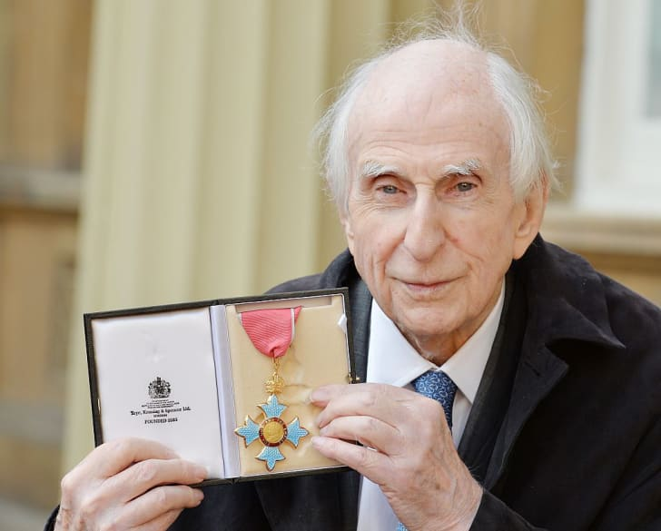 British author Michael Bond, who wrote the Paddington Bear series of books