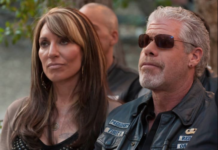 Katey Sagal and Ron Perlman in 'Sons of Anarchy'