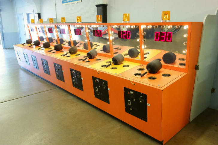 A Whac-A-Mole game in Cedar Point, Ohio