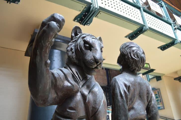 Jamrach's tiger at Tobacco Dock in London