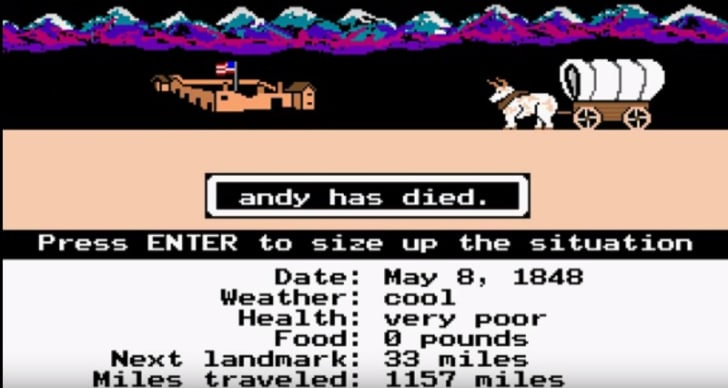 Sally Died of Dysentery: A History of 'The Oregon Trail'