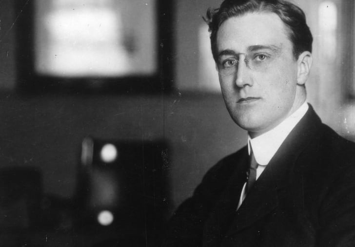 Portrait of a young Franklin D. Roosevelt.