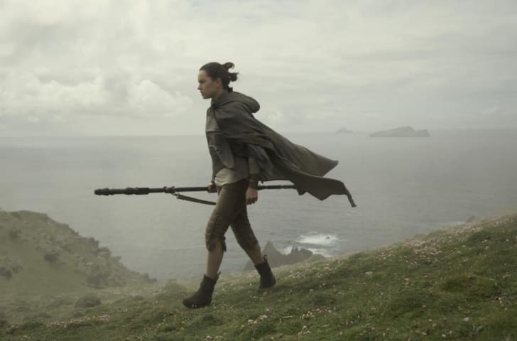 Daisy Ridley in 'Star Wars: The Last Jedi'