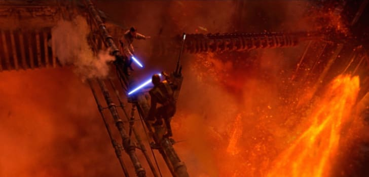Hayden Christensen and Ewan McGregor in 'Revenge of the Sith'