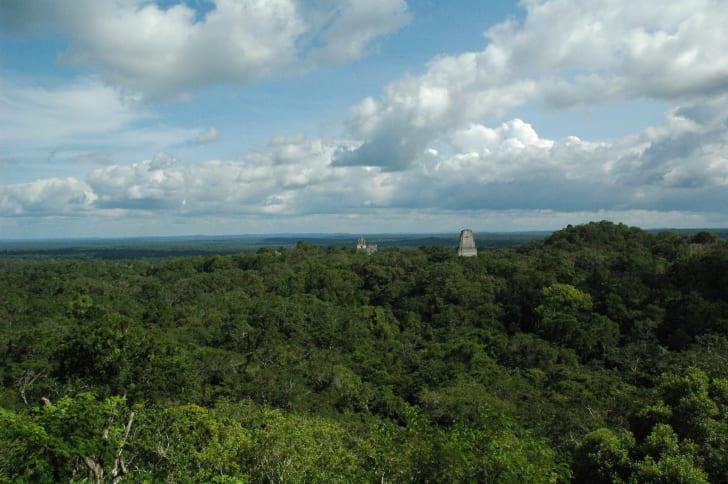 A temple at Tikal, Guatemala