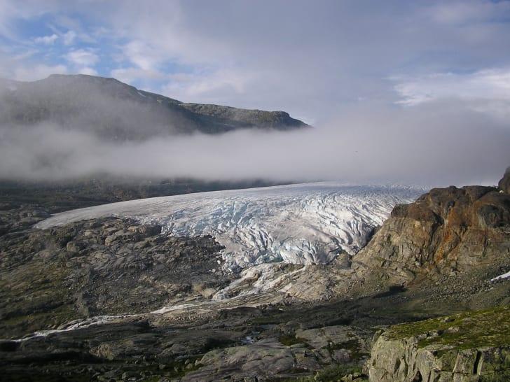 Norway's Hardangerjøkulen glacier