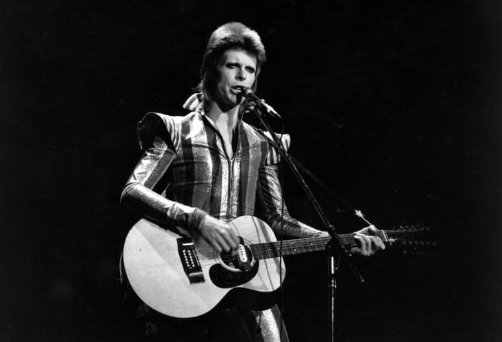 3rd July 1973: David Bowie performs his final concert as Ziggy Stardust at the Hammersmith Odeon, London. The concert later became known as the Retirement Gig