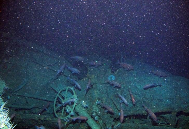 Wreckage of Australian World War I naval submarine HMAS AE-1