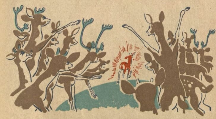 Rudolph the Red-Nosed Reindeer illustration