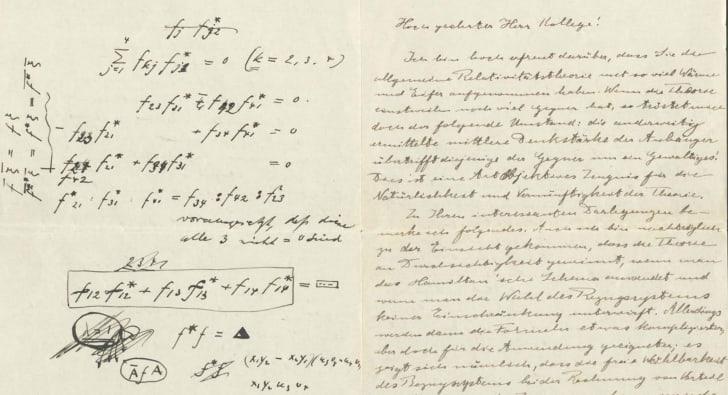 einstein letter to weyl 1916