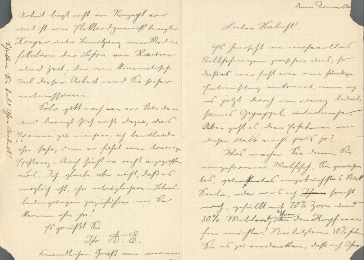 einstein letter to harbicht