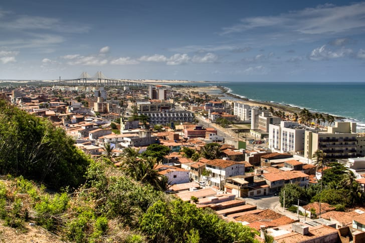A view across the skyline of Natal, Brazil