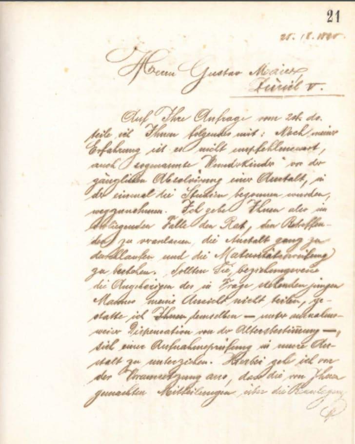 letter about einstein from hertog to maier