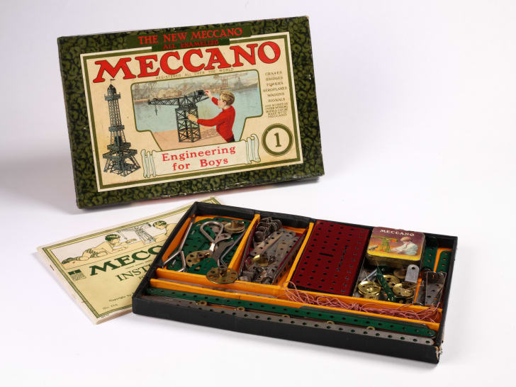 Meccano, a model construction kit created in 1901 by Liverpool clerk Frank Hornby