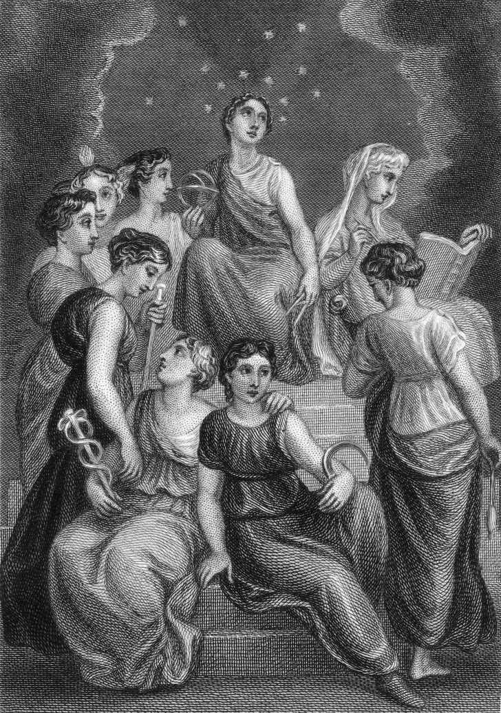 The nine Muses.