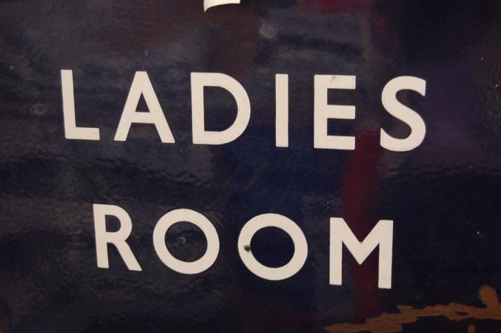Ladies' room sign