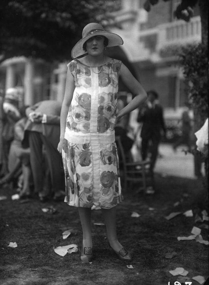 Woman wearing a trendy dress, 1925.