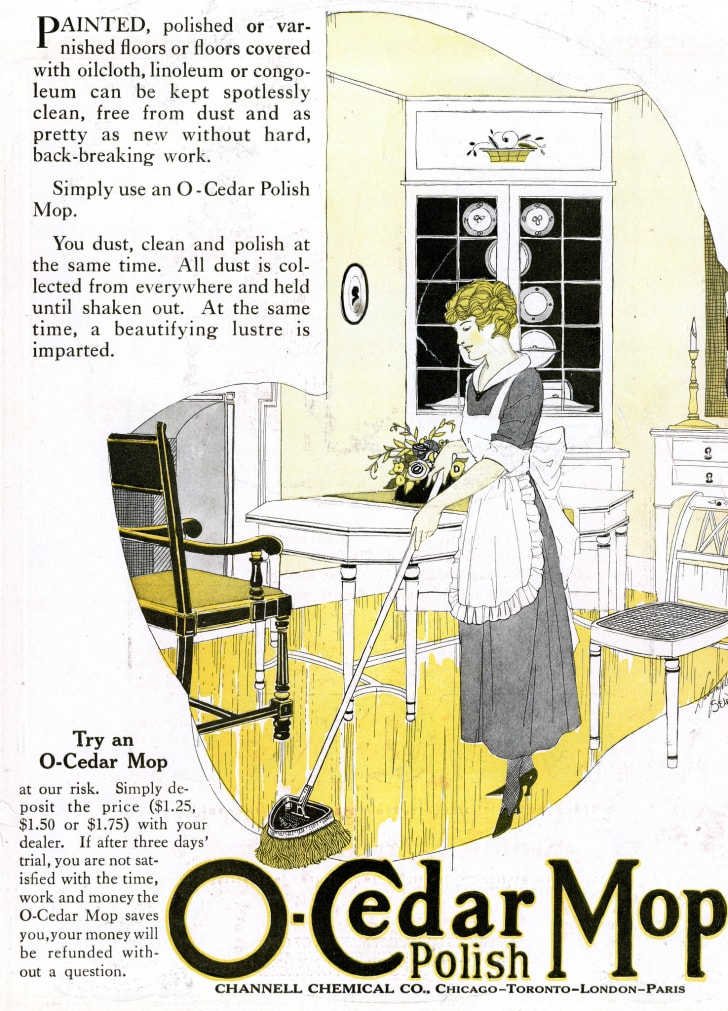 A 1920s ad for mops.