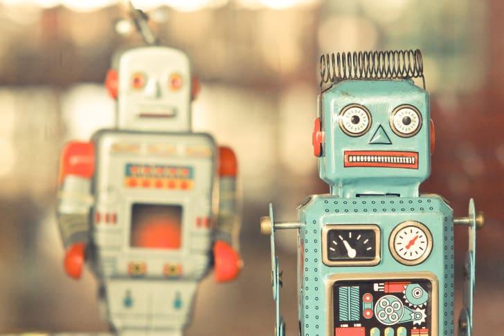 tin robot toys